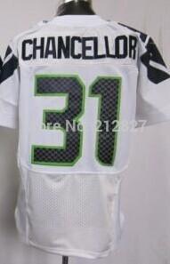 envío gratis venta al por mayor de fútbol nuevo seahawks 31 kam canciller jerseys