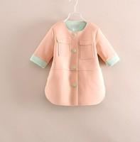 2014 autumn New arrival Children's jacket fashion girls high quality  classic jacket jacket kids girls 6pcs/lot