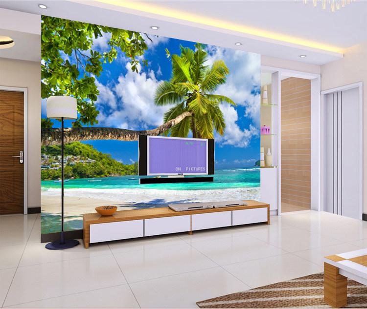 Mural De Fotos Para Sala De Estar ~ 3D oceano mural papel de parede sala de estar sofá TV fundo papel de