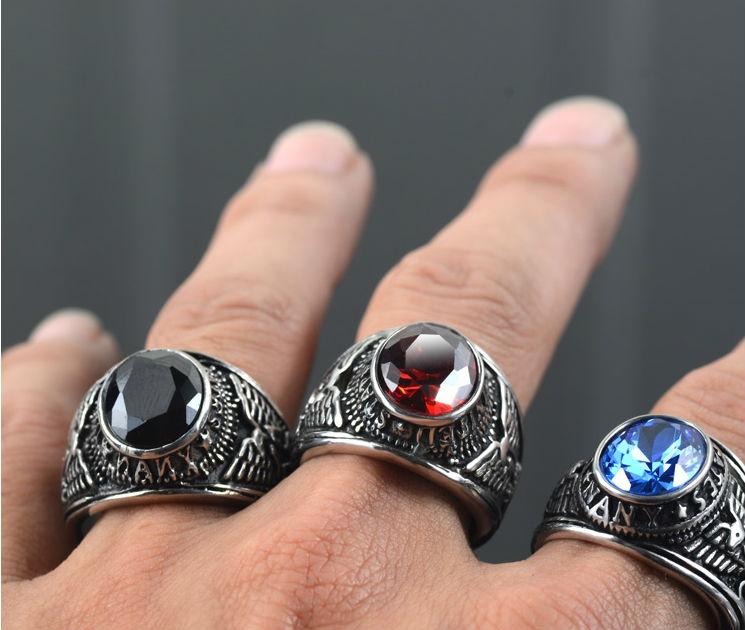 Black And Red Titanium Rings Images