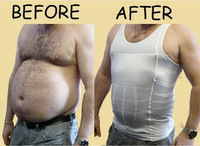 Free shipping !HOT selling Men's Slimming Vest Belly Buster Body shaper Shirt QY