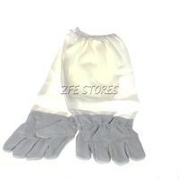 1 Pair Bee Keeping Beekeeping Protective Sheepskin Vented Long Sleeves Gloves/Free shipping
