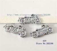 SL211   50pcs Motorcycle 8mm  Slide Charm  fit Wristband key chain