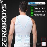 10pcs ZEROBODYS Comfortable Mens Body Shaper COOLMAX Active Abdo Plus Vest 377 WH Power Abdomen Moisture Absorption