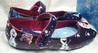 2014 New Frozen Shoes Elsa Anna Princess For Size 25-30 Little Girl Shoes to Match Frozen Dresses 3 Colors Blue Pink Purple