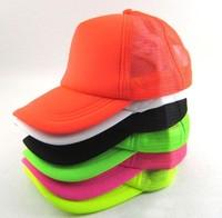 New 2014 spring summer cap baseball cap fluorescent color male neon baseball hat Design mesh Peaked Cotton Caps Sport