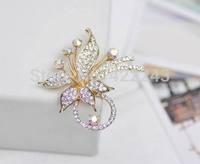 min amount is $9 Fashion crystal brooch pin brooch grade