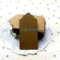 50Pcs/Lot DIY Kraft Paper Gift Tags Wedding Birthday Label Blank Luggage Cards#57925