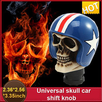 Truck /Car Skull Bone  Blue Human Shifter Hot New Universal Manual Gear Stick For  Shift Knob wholesale