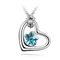 Austrian crystal heart cutout heart pendant accessories gift