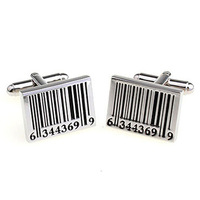 Barcode Cufflink 3 Pairs Wholesale Free Shipping Promotion