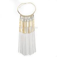 2014 Newest Women Long Fringe Shape Chokers Necklace Bohemian Style Necklace 5pcs/lot FREE SHIPPING