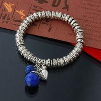 2014 New Fashion 925 Thai silver women chain link charm bracelets bangles jewelry wristband aliexpress bijoux accessories ZB9122