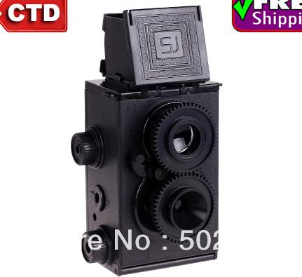 DIY Lomo Recesky TLR 35mm Twin Lens Reflex Retro Camera,(China (Mainland))