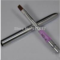 1pc No 6 Professional Combination Rod Sable Acrylic Gel Nail Art Pen Tip Design Brush Builder Tool