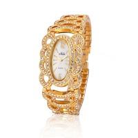 2014 New Fashion Women Dress Watches  Bohemia Rhinestones Style Quartz Watch Alloy Bracelets Women Wristwatches Relogio 2 Colors