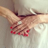 Sunshine jewelry store Europe Rings Punk Fashion Polished Midi Mid Finger Square Ring