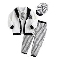5pcs/lot baby boys clothing set spring / autumn, long sleeve kid boys suits 5pcs. children boy handsome outerwear