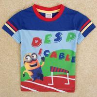 NOVA Kids Despicable Me Boys short-sleeved T-shirt prints Free Shipping C5113Y
