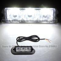 Free Shipping!! 12V Hight Power LED 3W Waterproof 3 LED Car Truck Emergency Flash Strobe Police light Amber White