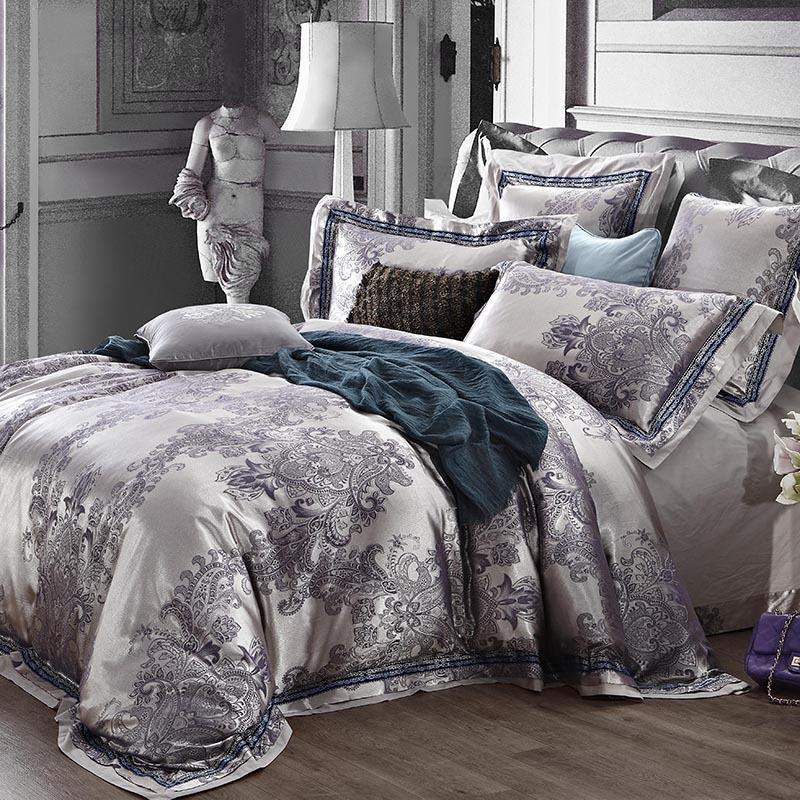 Silver Satin Bed Sheets