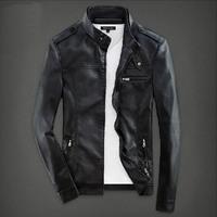 THOOO NEW fashion men leather motorcycle models epaulettes PU leather leather leather collar Korean wave Asian size