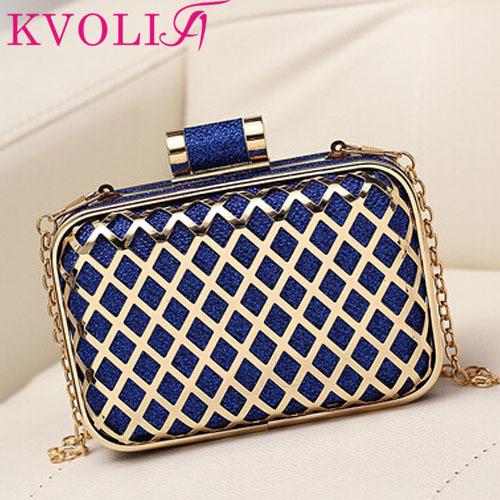 fashion messenger bags metal women clutch bag chain shoulder bag cosmetic box evening bags HL4306(China (Mainland))