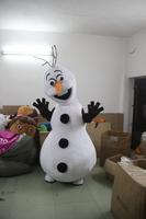 olaf  snowman hight quality adult size  hot sale, free ship , Mascot Costume, cartoon , Halloween cosplay Dress