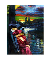 Wholesale - Free Shipping 2014 Hot Sale Abstract Person Oil Painting Artwork