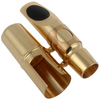 5pcs Professiona Gold Plated Metal Alto Saxophone Mouthpiece 6 for Sax Playing the Classical Music