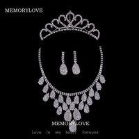free shipping  luxury bridal  jewelry rhinestone  wedding jewelry set  beautiful princess high quality jewelry