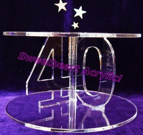 2 tier Acrylic cupcake stand 40th Birthday Cupcake stand ,SW-CAKE-038(China (Mainland))