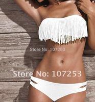 ladies outdoor fun & sports Strapless striped print bikinis set women's victoria swimwear push up Bikini