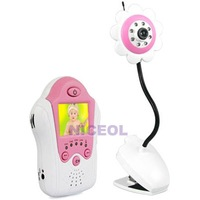 NI5L 1.8Inch Baby Real-time Monitor Flower Camera Infant Care Video Pink