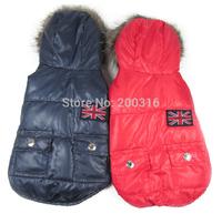 New Coming  UK airman  Design Pet Dog's winter coat  Free shipping  Clothing for Dog