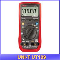 free shipping UNI-T UT-109 UT109 Digital Handheld volt Amp Ohm Temp tester Capacitance handheld Automotive Multimeters