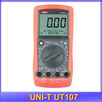 free shipping UNI-T UT107 LCD Digital Multimeter Handheld Automotive Multimeter  Volt Ohm Hz Temp Meter Battery Testing