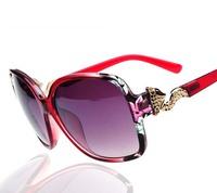 2014 New fashion Sunglasses Lady metal gradient sunglasses brand sunglasses gold fox big sqaure box
