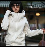 Korean New cheap women Long sleeve hoodie cardigans coat women's hoodie sports wear Track hoodie sweatshirt  solid  sweater C122