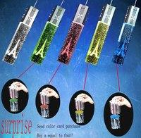 2014  Modern 3 Lights Bubble Crystal Column Pendant Lamp fashion Chandeliers ds-017