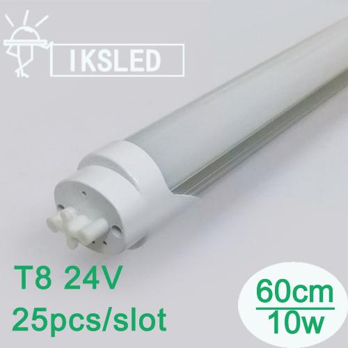 Светодиодная лампа IKS T8 25pcs 600 24v 10w 700/900lm 12v 2ft T8 ультрафиолетовая лампа philips tl d18 08 60cm tube t8