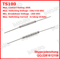 TS100 X1000PCS/LOTS Original and New: American Standex normally open reed : TS100 diameter glass length 21MM 2.5MM