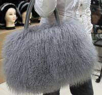 Fur bags beach wool bags vivi Large leather handbag