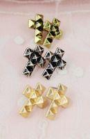 1pcs free shiiping 2014 hot New Fashion punk rock cool cross stud earrings for Women men, Vintage  earring Jewelry! CLG-014E044