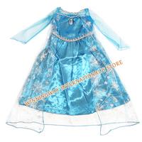 Hot Sale Amazing Cartoon princess Elsa Anna Frozen Dress Baby Girls beautiful Dress frozen long sleeve Dress Children's Cloting