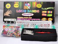 DIY LOOM BANDS with (600 pcs bands+24 pcs S clips+1 pcs Hook+1 pcs shell) Colorful rubber bracelets DIY educational toys
