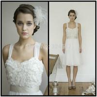 Romantic Elegant Chiffon & Lace Short Wedding Dress Custom All Size Vestido De Noiva Gown