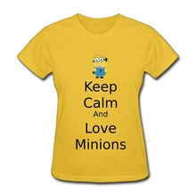 New 2014 Print Short Sleeve Woman T Shirts Lovely Despicable Me minions Jerry Jokes Party T-Shirts Women's Short-Sleeve(China (Mainland))