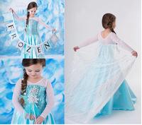 Summer New arrival Ancient frozen Dress baby Girls Dress casual girl's Anna Dress beautiful princess long Dress
