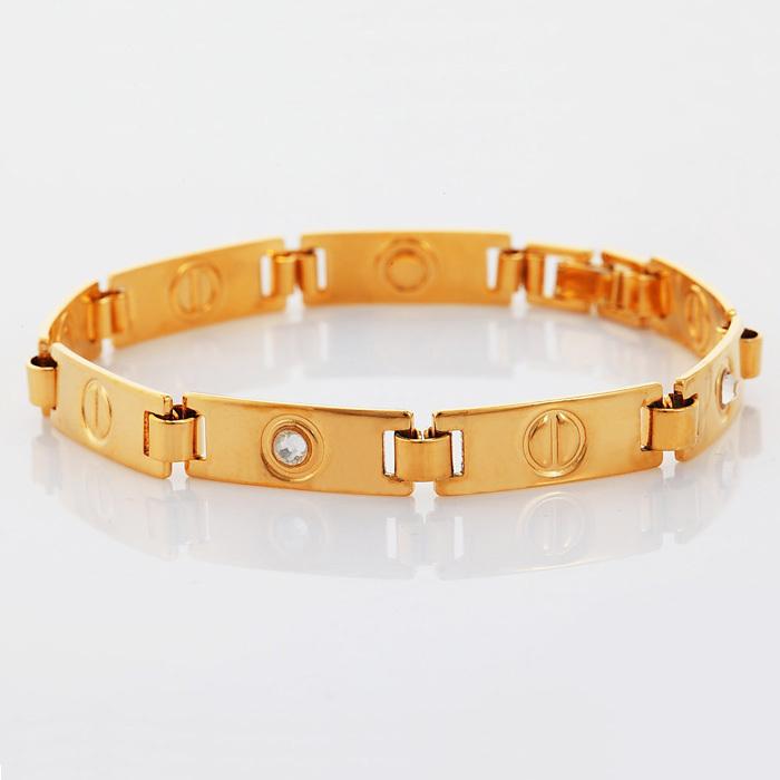 New 2014 Brand Design Crystal Love Bracelet Men/women 18K Real ...